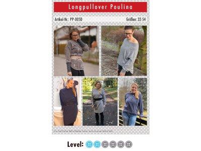 Papier-Schnittmuster Paule und Paulinja - Longpullover Poulina - Damen