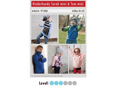 Papier-Schnittmuster Paule und Paulinja - Hoody Sarah mini & Tom mini - Kinder