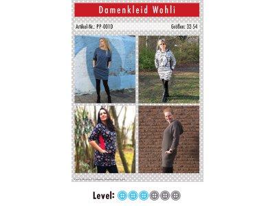 Papier-Schnittmuster Paule und Paulinja - Kleid Wohli - Damen