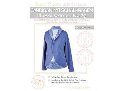 Papierschnittmuster lillesol women No.29 Cardigan mit Schalkragen