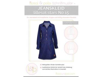 Papierschnittmuster lillesol stars No.15 Jeanskleid
