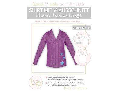 Papierschnittmuster lillesol basics No.51 Shirt mit V-Ausschnitt