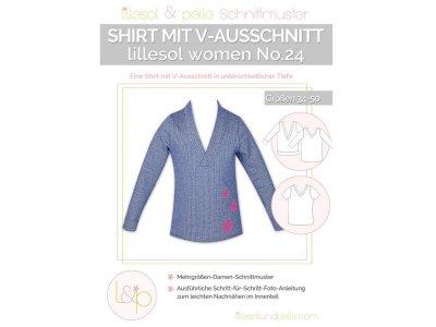 Papierschnittmuster lillesol women No.24 Shirt mit V-Ausschnitt