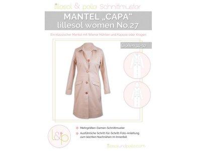 Papierschnittmuster lillesol women No.27 Mantel Capa