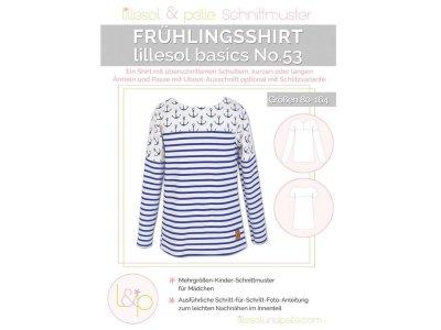 Papierschnittmuster lillesol basics No.53 Frühlingsshirt