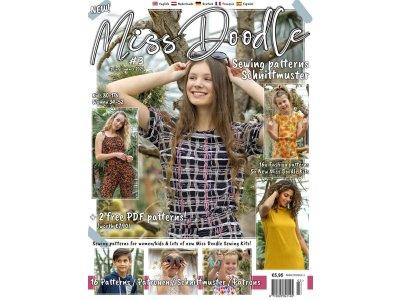 Miss Doodle NR: 3 Frühling/Sommer 2021 - Schnittmuster-Zeitschrift für Damen und Kinder