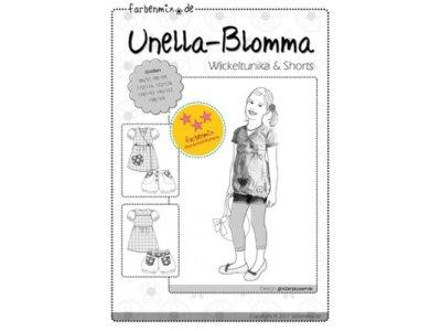 Schnittmuster UNELLA-BLOMMA Wickeltunika & Shorts Farbenmix
