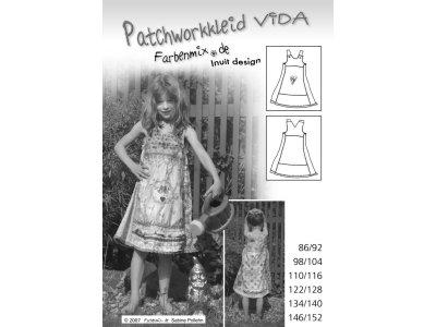 Schnittmuster VIDA Patchworkkleid Farbenmix