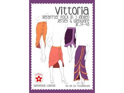 Papierschnittmuster Farbenmix Vittoria Damenrock