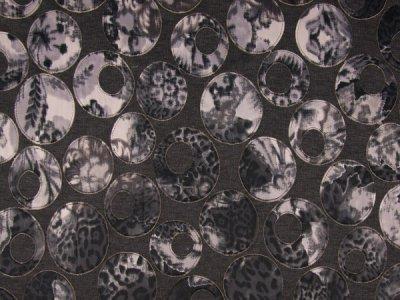 Jersey Melange Laser Cut Print grau