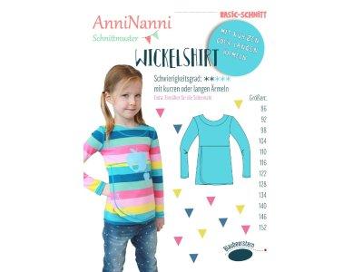 Papierschnittmuster Blaubeerstern AnniNanni WICKEL-SHIRT - Mädchen