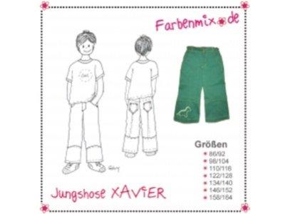 Schnittmuster XAVIER Jungshose Farbenmix