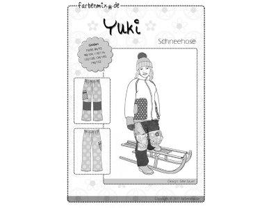 Schnittmuster YUKI Farbenmix Schneehose