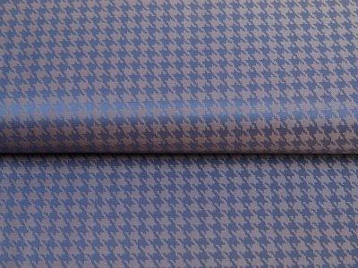 Jacquard Futterstoff - Hahnentritt-Muster - grau