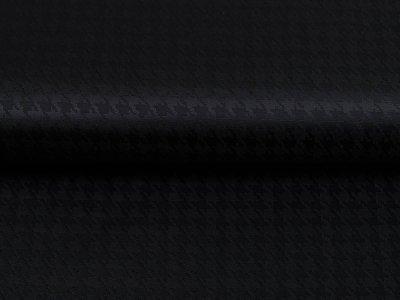 Jacquard Futterstoff - Hahnentritt-Muster - schwarz