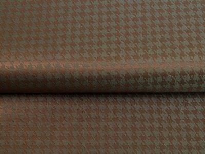 Jacquard Futterstoff - Hahnentritt-Muster - khaki