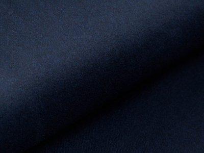 Wollstoff - meliert nachtblau