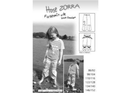 Schnittmuster ZORRA Hose Farbenmix