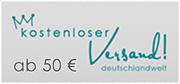 Deutschlandweit kostenloser Versand ab 50 €!