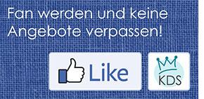Facebook-Fan von KDS werden und keine Angebote verpassen!