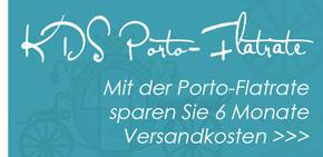 Mit der Porto-Flatrate sparen Sie 6 Monate Versandkosten!